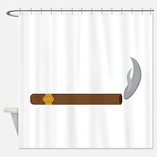 Cigar Smoke Shower Curtain