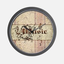 Music the word Wall Clock