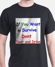 Funny Stop texting driving T-Shirt
