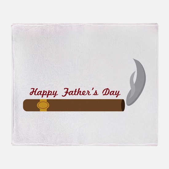 Fathers Day Cigar Throw Blanket