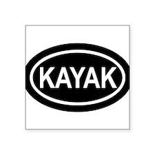 """Cool Kayak Square Sticker 3"""" x 3"""""""