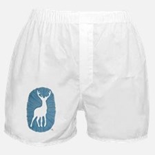White Stag on Blue Boxer Shorts