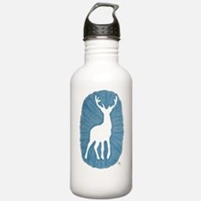 White Stag on Blue Water Bottle