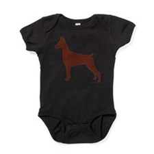 Cute Doberman pinscher Baby Bodysuit