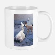 mom and baby llama Mug