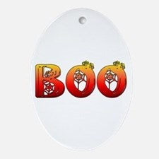 Boo Halloween Gifts and Decorations Ornament (Oval
