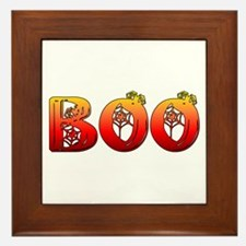 Boo Halloween Gifts and Decorations Framed Tile