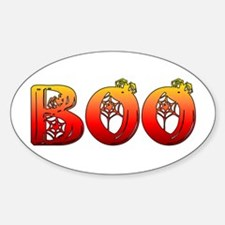 Boo Halloween Gifts and Decorations Oval Decal