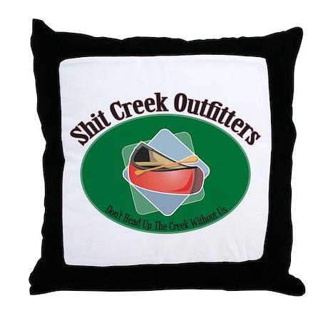 Shit Creek Paddles Throw Pillow