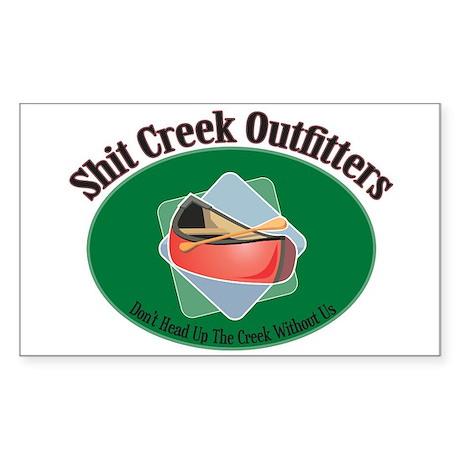 Shit Creek Paddles Rectangle Sticker