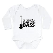 Unique Bass guitar Long Sleeve Infant Bodysuit