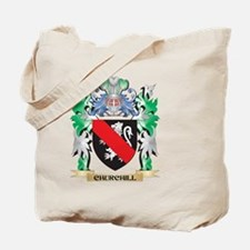 Churchill Coat of Arms - Family Crest Tote Bag