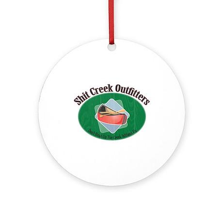 Up Shit Creek Ornament (Round)