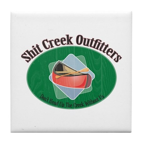 Up Shit Creek Tile Coaster