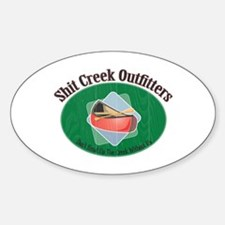 Up Shit Creek Oval Decal