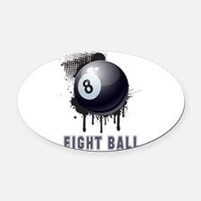 Abstract Ink Splotch with BILLIARD Oval Car Magnet