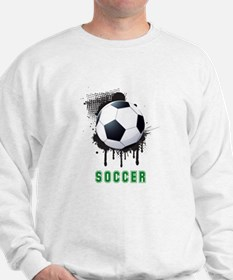 Abstract Ink Splotch with SOCCER ball a Sweatshirt