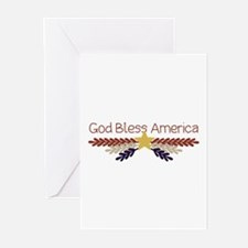 God Bless America Greeting Cards