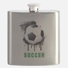Abstract Ink Splotch with SOCCER ball and TE Flask