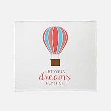 Let Dreams Fly Throw Blanket