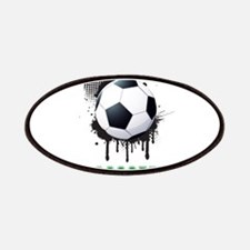Abstract Ink Splotch with SOCCER ball and TE Patch