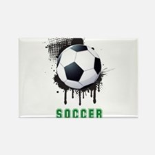 Abstract Ink Splotch with SOCCER ball and Magnets
