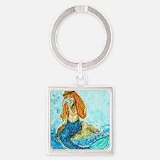 The Mermaid Maiden Square Keychain