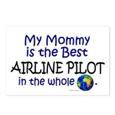 Best Airline Pilot In The World (Mommy) Postcards