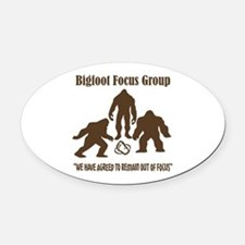 Big Foot Focus Group Oval Car Magnet