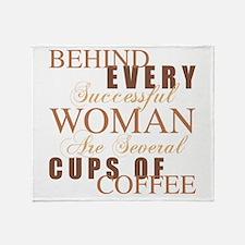 Woman Coffee Humor Throw Blanket