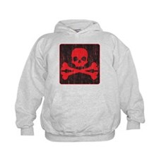 Red Pirate Skull Crossbones Hoodie