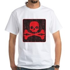 Red Pirate Skull Crossbones Shirt