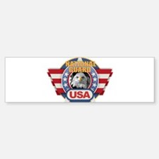 USA National Guard Design Bumper Bumper Bumper Sticker