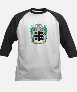 Clayton Coat of Arms - Family Cres Baseball Jersey