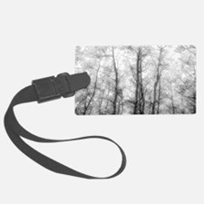Aspen Tree Forest, Black & White Luggage Tag