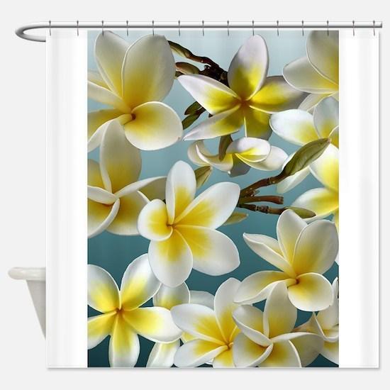 Unique Plumerias Shower Curtain
