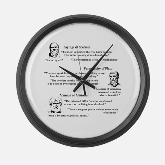 Cute Philosophy Large Wall Clock