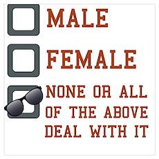 Funny Gender Neutral Poster