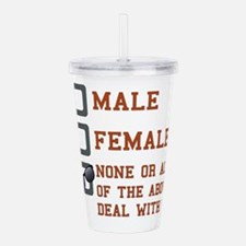 Funny Gender Neutral Acrylic Double-wall Tumbler