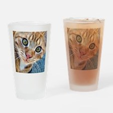 Crazy Kitty Drinking Glass