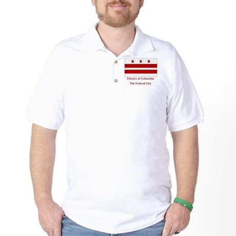 District of Columbia Flag Golf Shirt