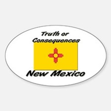 Truth Or Consequences New Mexico Oval Decal