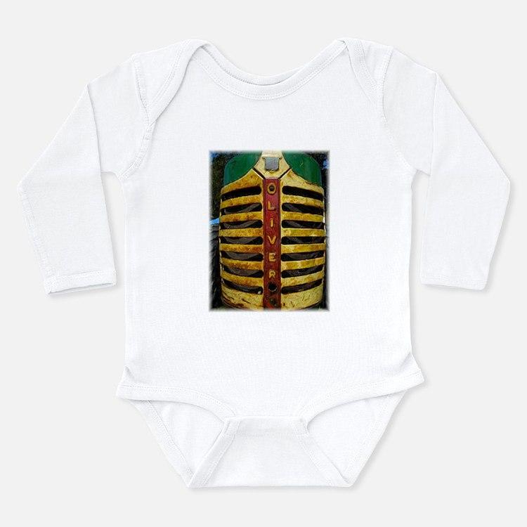 Cute Olive green Long Sleeve Infant Bodysuit
