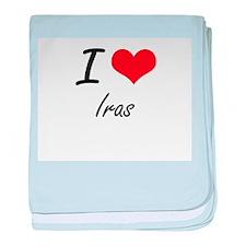 I Love Iras baby blanket