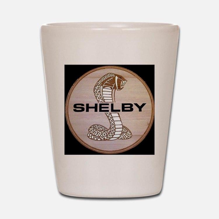 Shelby Cobra Emblem Shot Glass