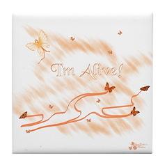 I'm Alive Leukemia Tile Coaster