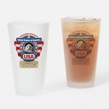 Funny Pledge of allegiance Drinking Glass