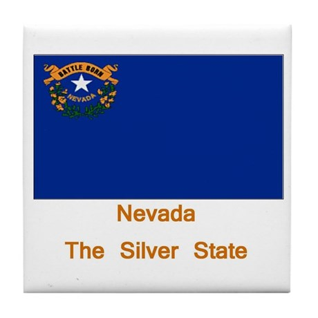 Nevada State Flag Tile Coaster