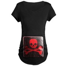 Red Pirate Skull Crossbones T-Shirt