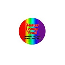 Jesus Loves You! Mini Button